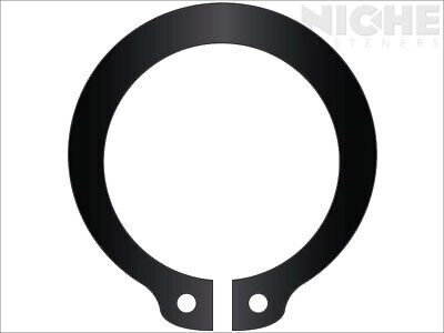 Snap Retaining Ring External Heavy Duty 2 Spring Steel Phos (15 Pieces)