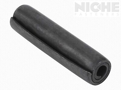 Coiled Spring Pin 1/2 x 2 HD Carbon Steel Oiled (15 Pieces)