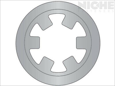 Push-On External Reinforced Retaining Ring 1/8 SS (50 Pieces)