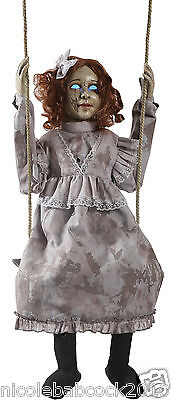Halloween Swinging Decrepit Creepy Animated Doll Hanging Prop Instock