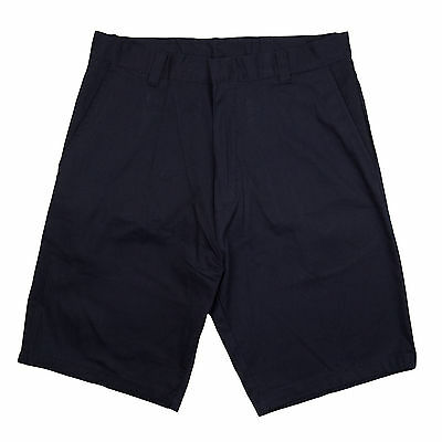 "Men Navy 9"" Shorts Flat Front Genuine School Uniform   Sizes 28 - 38"