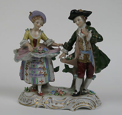 20th century Sitzendorf courting couple figurine