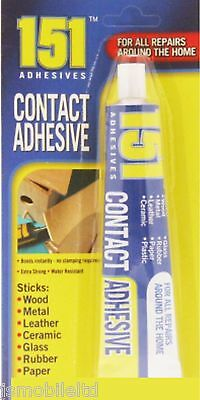 151 Contact Adhesive Glue Wood Metal Leather Ceramic Glass Rubber 50G