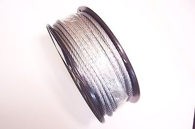 "Galvanized Wire Rope Cable 1/4"", 7x19, 120 ft Reel"