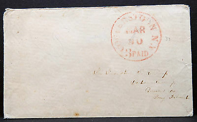 US Stampless Cover Cooperstown New York 1855 3 Paid Vorphila Brief (Lot I-253