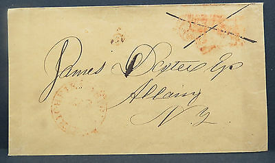 US Stampless Letter Richfield to Albany Stempel !!! Vorphila Brief (Lot I-308