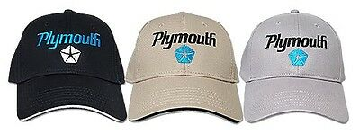 Plymouth Hat - Baseball Cap with Mopar Pentastar