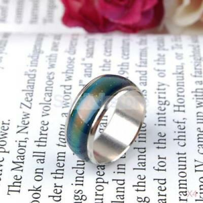 4x Kids Mood Ring Band Temperature Color Change US Size 5