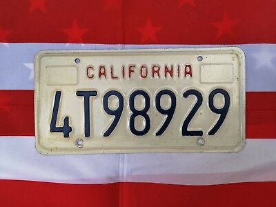 Plaque d'immatriculation California 4T98929 USA US License Plate