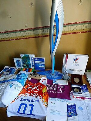 Olympic Torch Sochi 2014 + Uniform (S,M), Medals, PRIVATE COLLECTION (30 items)