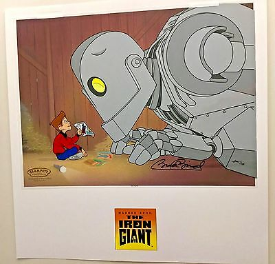Warner Bros. signed Cel The Iron Giant A GIANT LESSON Rare Number 1 HC Edition