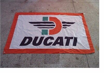NEW LARGE 3'x5' DUCATI FLAG MAN CAVE FREE SHIPPING
