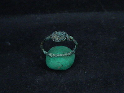Ancient Bactrian C.200 BC Bronze ring  ##5895##