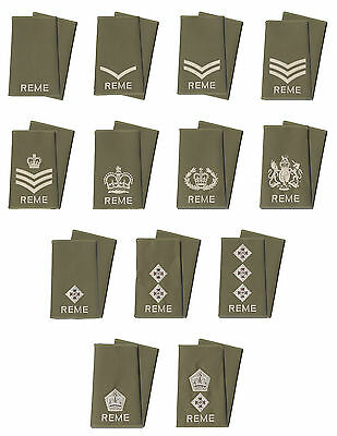 Pair of Royal Electrical and Mechanical Engineers REME Rank Slides All Ranks