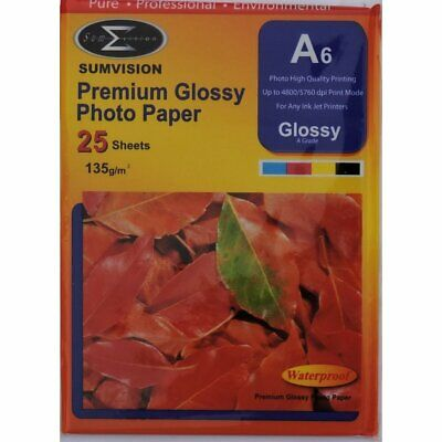 SUMVISION  Premium Glossy Photo Paper 200 GSM A6