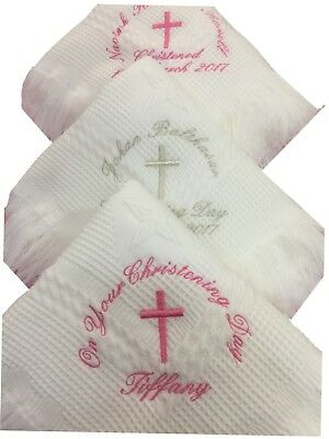 Personalised Christening Shawl / Blanket