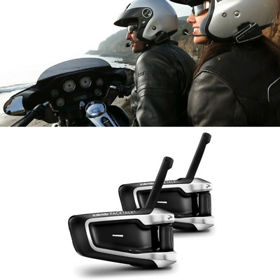 New Cardo Scala Rider Packtalk Pack Talk Duo Motorcycle Bike Bluetooth Intercom