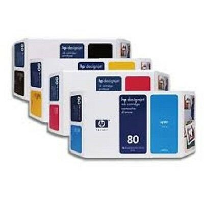 Genuine Hp 80 Ink Cartridges Black, Cyan, Magenta & Yellow Expired Fast_Post