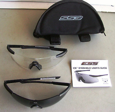 NEW  ESS ICE BALLISTIC EYESHIELD Kit. Contains 2 Eyeshields, Tinted & Clear