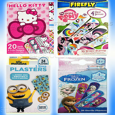 20 DISNEY FROZEN / HELLO KITTY / MOSHI STERILE PLASTERS BAND AID Water Repellant