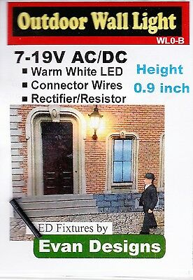 Model Train - 7-19v Outdoor Wall Light suit HO & O - Fully assembled made in USA