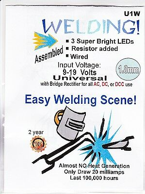 Model Train Accessories - 1.8mm Welding Lights -Universal 9-19v - Made in USA
