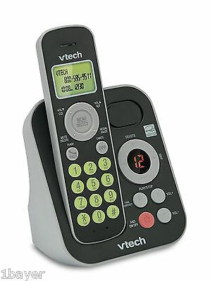 Vtech Dect 6.0 Single Handset Cordless Phone System Digital Answering Machine