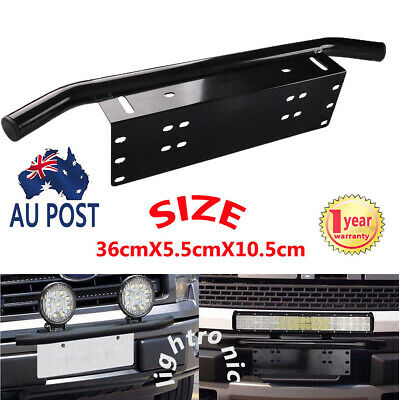 "23"" Bull Bar Front Bumper License Plate Mount Bracket LED Work Light Bar Holder"