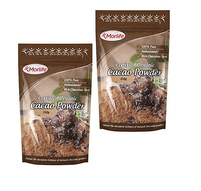 Morlife Cacao Powder 150g x2 | Certified Organic | Cocoa Alternative | Healthy