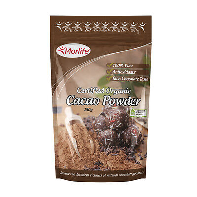 Morlife Cacao Powder 150g | Certified Organic | Cocoa Alternative | health