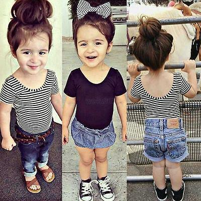 0-3Y Baby Kids Girls Toddler Solid Halter Modal Tee Tank Lovely T-shirt Tee Tops