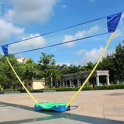 Outdoor Adjustable Folding Badminton Set, Volleyball Net With Stand Battledore