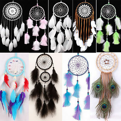 Dream Catcher Feather Hanging Handmade Craft Gift Car Home Ornament Decoration