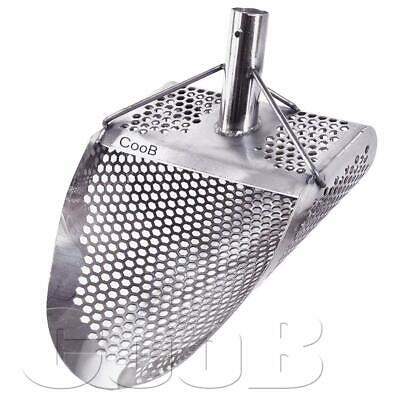 NEW *HEXAHEDRON -7* Beach Sand Scoop Metal Detector Hunting Tool Stainless Steel