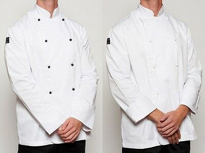Chef Jacket X 3 - White - Brand New + 10 FREE BUTTONS