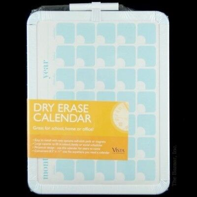 """Vista Dry Erase Calendar 8.5""""x11"""" Month Day Or Year Self Stick Or Magnetic NEW"""