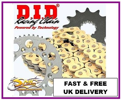 HONDA CBF125 2009-15 GOLD DID OE Chain & Sprocket Kit **FREE CHAIN LUBE**