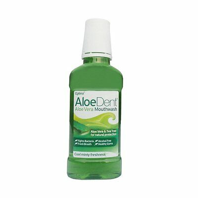 Aloe Dent Mouthwash 250ml Flouride Free (Pack of 3)