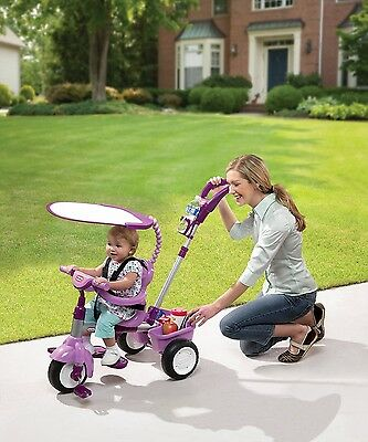 Tricycle Bike For Baby Toddler Parent Handle, Little Tikes 4-in-1 Trike - Purple