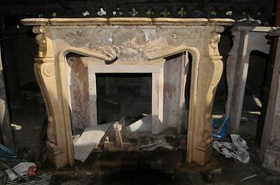 French Rococo Fireplace Marble Mantel, French Design #1028