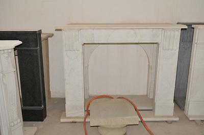 Simple Design, White Marble Fireplace Mantel with Squared Opening #1444