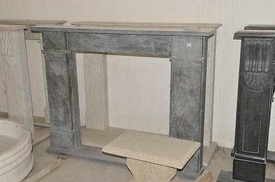 Simple Black Granite Fireplace Mantel, Square Opening #1439 Modern Design