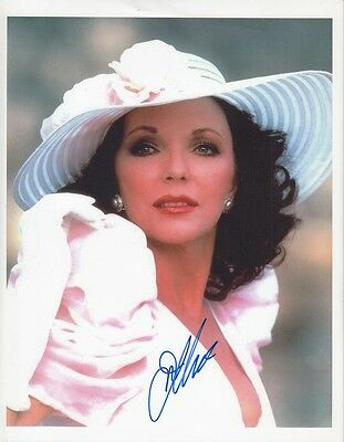 "JOAN COLLINS - 11"" x 8"" Colour Photograph PERSONALLY SIGNED By Joan Collins"