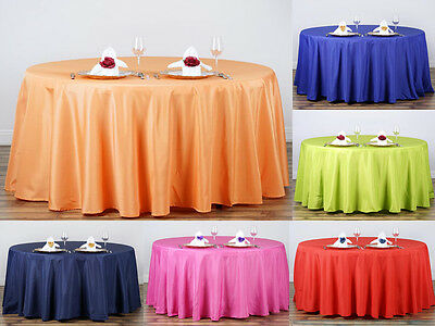 "30 pcs Wholesale Lot 132"" ROUND POLYESTER TABLECLOTHS Fine Wedding Linens SALE"