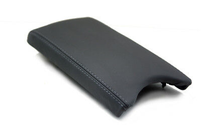 Gray Stitc for 08-14 Dodge Challenger Console Armrest Real Leather cover Black