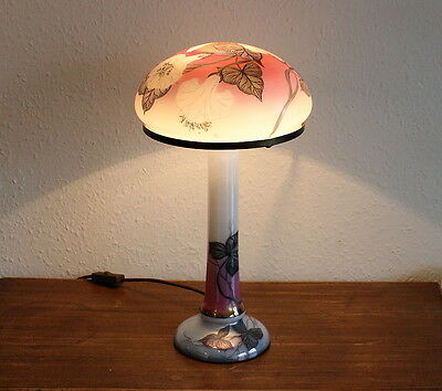 Rar Tisch Lampe - Mundgeblasen Handbemalt - Manufaktur Eisch '89 - Table Lamp