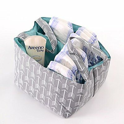 Diaper Storage Caddy By Danha Portable Diaper Bag And Grey Arrow Nappy Stacker
