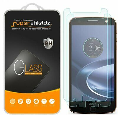 2x Supershieldz® Tempered Glass Screen Protector For Motorola Moto Z Force Droid