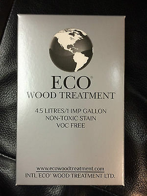 ECO WOOD TREATMENT 4.5 litres 1 imp gallons non-toxic stain finish lifetime NIB
