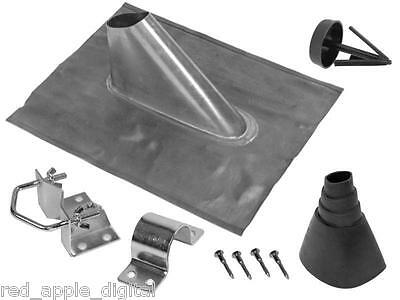 60mm Lead Roof Entry Flashing Kit For Satellite Dish Or Aerial